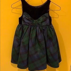 Holiday green plaid dress
